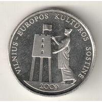 Литва 1 лит 2009 Вильнюс Культурная столица Европы 2009