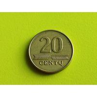 Литва. 20 центов 2008.