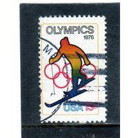 США. Mi:US 1285. Горнолыжный спорт. Олимпийские игры 1976 - Инсбрук и Монреаль