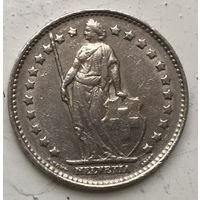 Швейцария 1 франк 1969