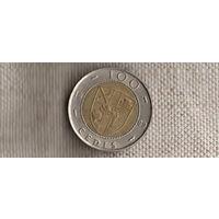 Гана 100 седи 1999/биметалл//(Li)