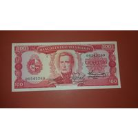 Банкнота 100 песо Уругвай  1967
