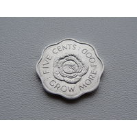 """Сейшельские острова. 5 центов 1972 год KM#18 """"ФАО - Выращивайте больше еды"""""""