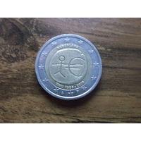 Нидерланды 2 евро 2009   10 лет монетарной политики ЕС (EMU) и введения евро
