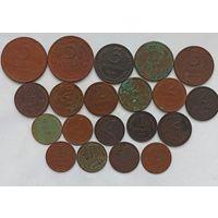 Лот монет 1924 года медь ( 20 шт.)
