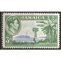 "Ямайка. Король Георг VI. Корабль ""Hihgland Monarch"". 1938г. Mi#125."