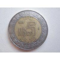 5 Песо 1993 (Мексика) биметалл