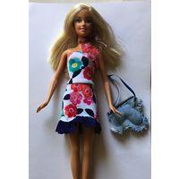 Аутфит наряд для куклы Барби Barbie платье шарфик сумочка (куклы нет)