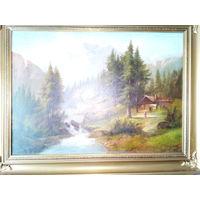 Картина маслом на холсте.19 век. 1887г.