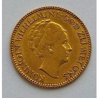10 гульденов Нидерланды 1925 Вильгельмина I