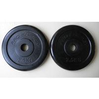 Диски обрезиненные Pro Energy, пара, по 2,5 кг, 30 мм