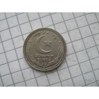Пакистан Британский доминион 1/4 рупии 1951г. не частый год