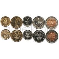 Руанда 5 монет 2003-2011 годов.