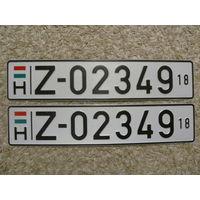 Автомобильный номер Венгрия Z-02349