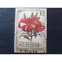 Финляндия 2007 цветы Mi-1,4 евро гаш