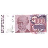 Аргентина 1000 аустралей образца 1988-90 года UNC p329(4)