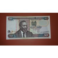 Банкнота 50 шиллингов Кения 2004