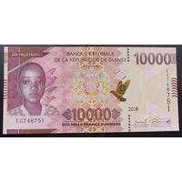 Гвинея. 10 000 франков 2018 [UNC]
