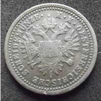 Австрия. 1 крейцер 1851 А
