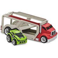 Автомобильный трейлер (лафет) с машинкой Kid Galaxy (бренд США) 2+ Новая, коробка не открывалась. Рассчитан на перевозку 4х машинок (2-й уровень опускается для заезда машинок и затем фоксируется в гор