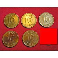 10 вон (Южная Корея)1991/92/95/2001/04/храм/