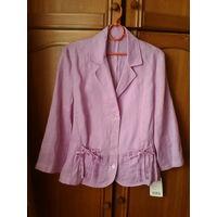 Сиреневая блуза пиджак,лен 100%.46 р.