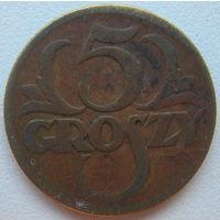 Польша 5 грошей 1923 г. (g)