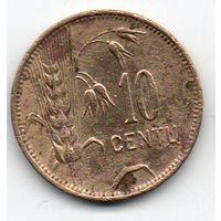 ЛИТОВСКАЯ РЕСПУБЛИКА 10 ЦЕНТОВ 1925