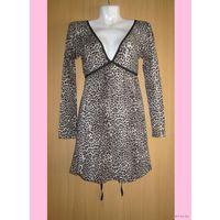 Леопардовое платье Kikiriki с полуоткрытой спинкой, р.42