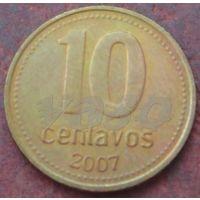 4394:  10 сентаво 2007 Аргентина