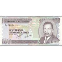 Бурунди 100 франков  2007 UNC