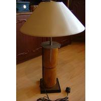Лампа настольная, большая. Бамбук. Сер. 20 века