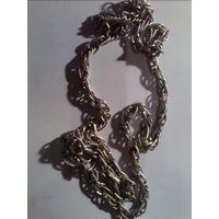 Цепочка 80см, красивое плетение, не тускнеет