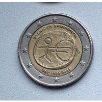Греция 2 евро 2009г. 10-летие монетарной политики ЕС