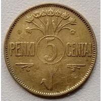 Литва 5 цент 1925