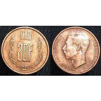 W: Люксембург 20 франков 1980 (73)
