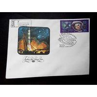 Конверт первого дня. 20-ти летие полета первой в мире женщины космонавта В.В. Терешковой 1983 г. Звездный городок #0033