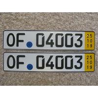 Автомобильный номер Германия OF04003