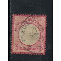 Германия Имп 1872 Герб Большой щит Зона кроны Стандарт #25