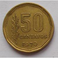 Аргентина 50 сентаво 1970