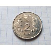 Индия 2 рупии, 2015 ( Отметка монетного двора - Ноида )