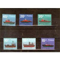 Пожарные Корабли на марках Польши 6 шт