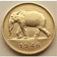 Бельгийское Конго. 2 франка 1946 год  KM#28