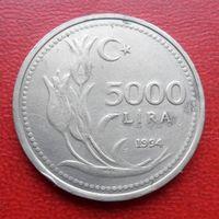 5000 лир 1994 год Турция  - из коллекции