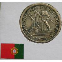 Португалия 2.5 эскудо 1974 год