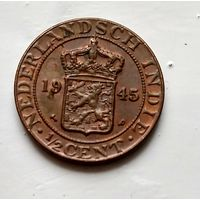 Голландская Ост-Индия 1/2 цента, 1945 3-5-35