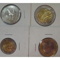 Кения 4 монеты 1, 5, 10, 20 шиллингов 2018г.
