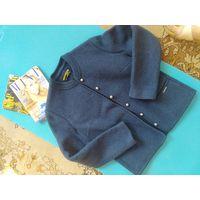 Куртка пиджак чистая шерсть р. 46