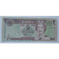 Фиджи 5 долларов 2002 года