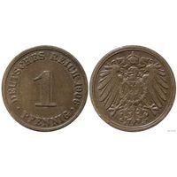 YS: Германия, Рейх, 1 пфенниг 1906A, KM# 10 (2)